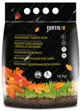 Complex autumn fertilizer for lawn