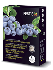 Complex chlorine- and nitrates-free fertilizer for blueberries and garden berries