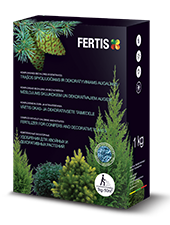 Complex chlorine-free fertilizer for conifers and decorative plants